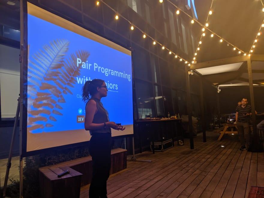 Clara presenting