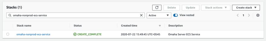 Fig: CloudFormation stack