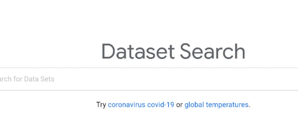 Cover image for Google Search for Datasets