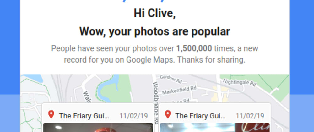 Cover image for do you get an ego boost when your goog map photos have reached over 1M views ?