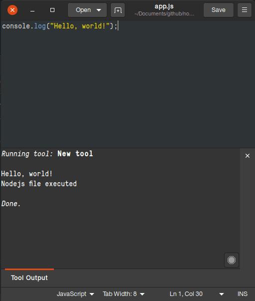 output js