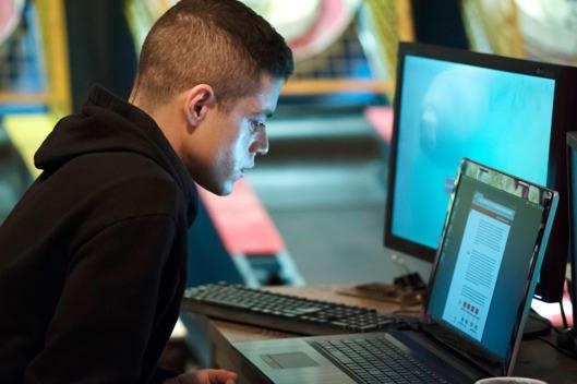 Rami Malek as Elliot in Mr. Robot. Photo: Virginia Sherwood/USA Network