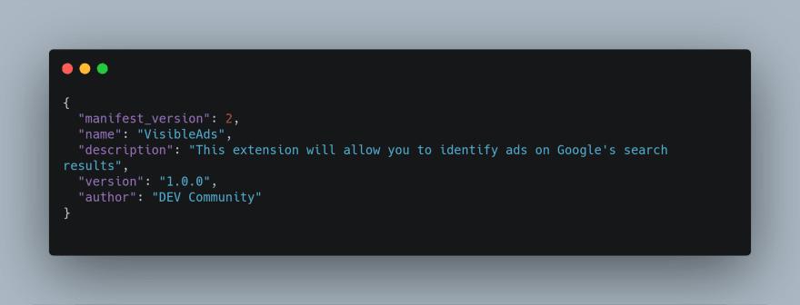manifest.json's source code
