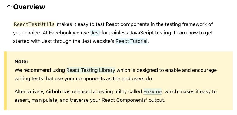 screenshot from React docs