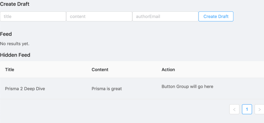 New Draft component added to the blog page- after adding new draft.