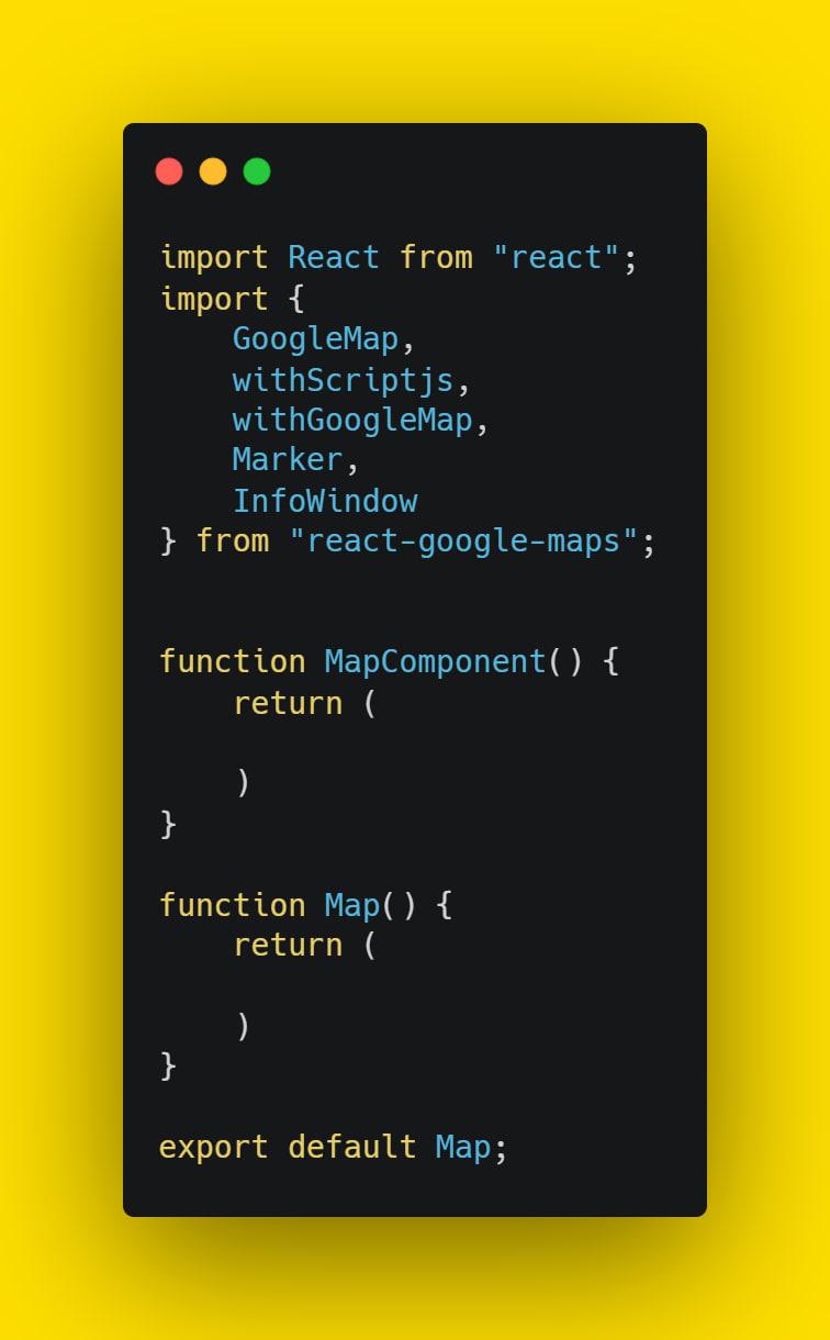 import react google map tools