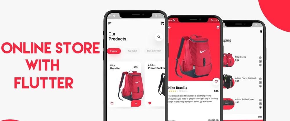 Cover image for Shopping app UI using flutter