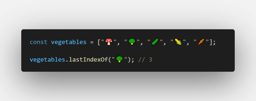lastIndexOfcode method
