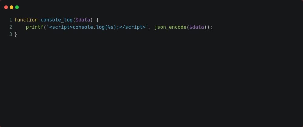 Cover image for Simply way to write PHP output in Javascript console.log