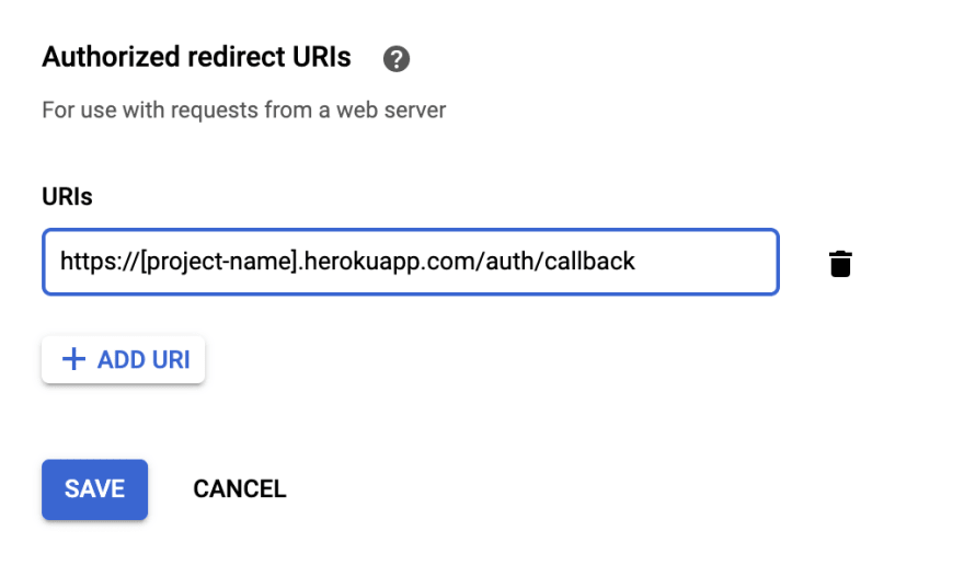 Pizzly registered as a callback URL for Google Sheets API