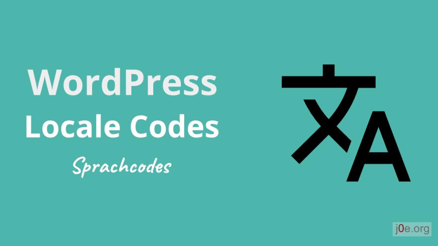 WordPress Locale Codes
