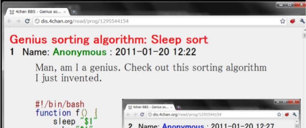 Cover image for Sleep Sort: Where Theory meets Sobering Reality