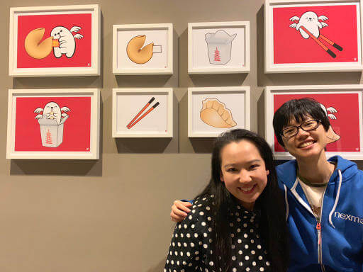 Yiying and I at her art show