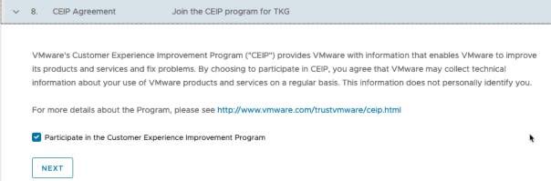 Deploy Management cluster to Azure - CEIP