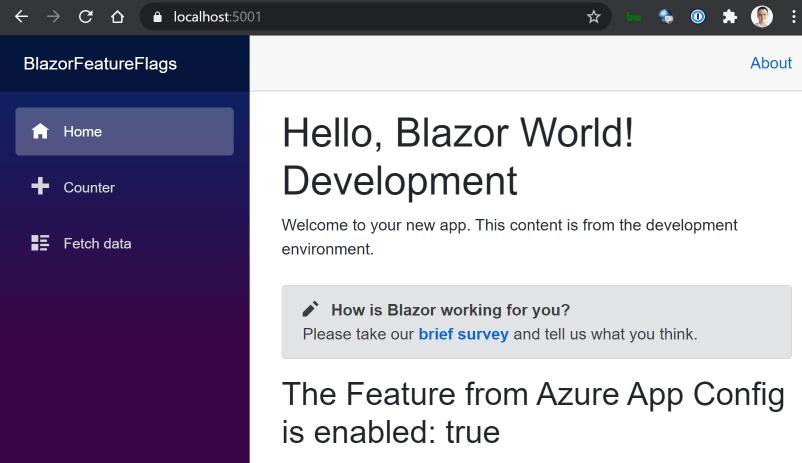 Blazor App Dev Home Page