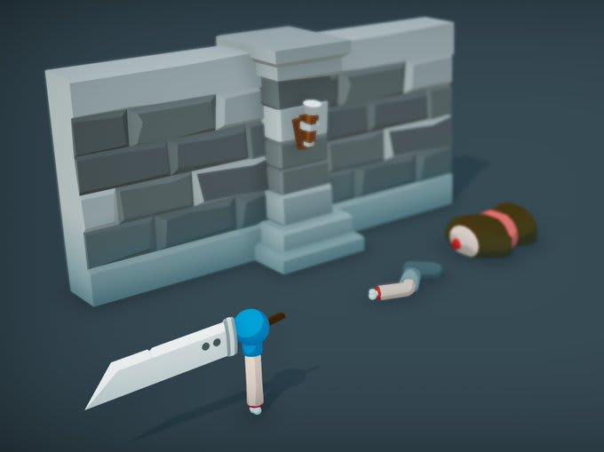 screenshot of wall in unity