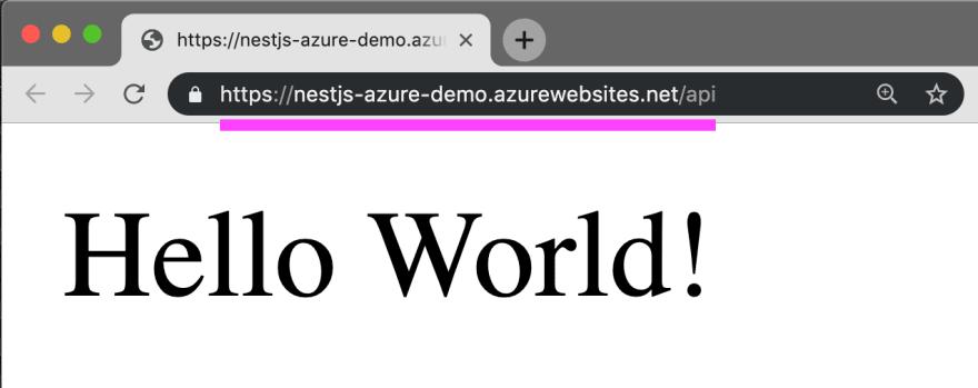 Deploy NestJS to Azure Function live demo