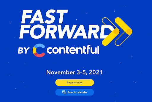 Banner promoting the Fast Forward event
