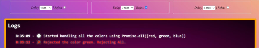promise all reject