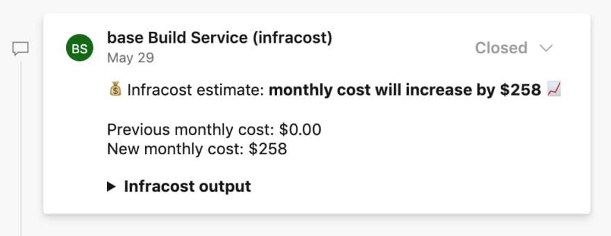 Cloud cost estimates in Azure DevOps