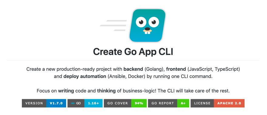Create Go App CLI