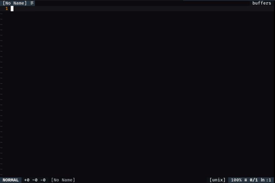 Captura de tela do Neovim usando Airline