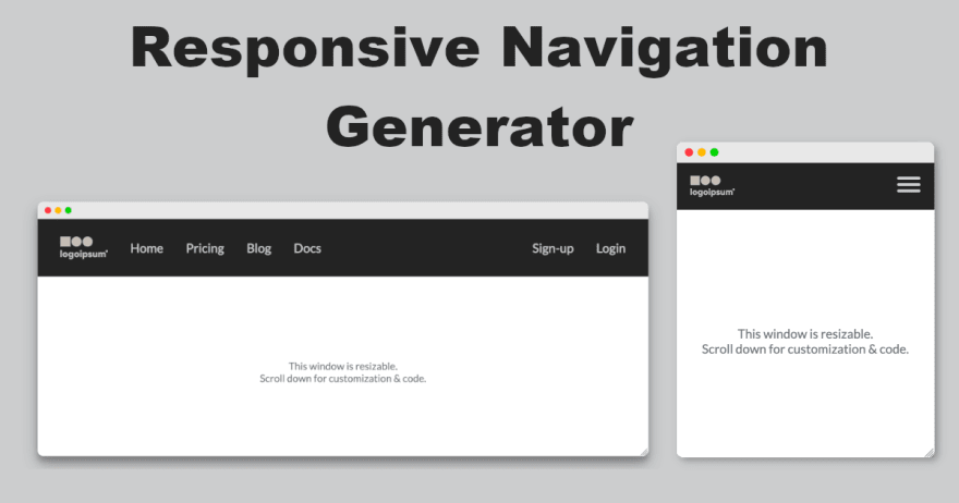 Responsive Navigation Generator