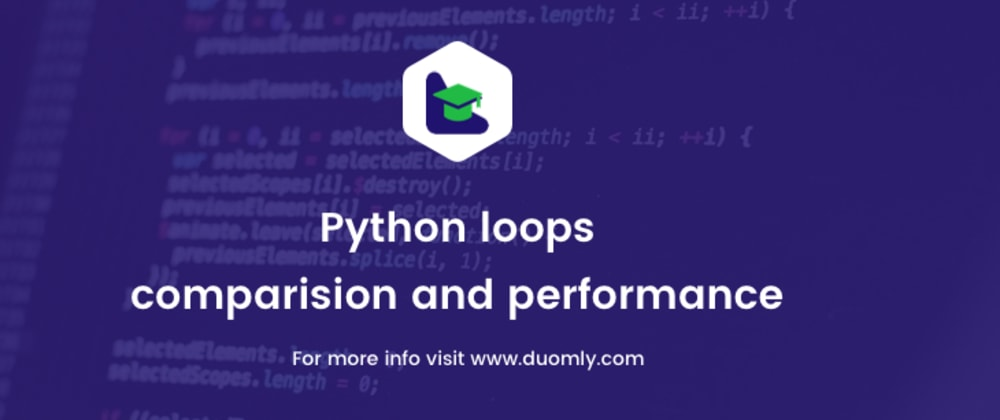 Cover image for Loops in Python – comparison, and performance