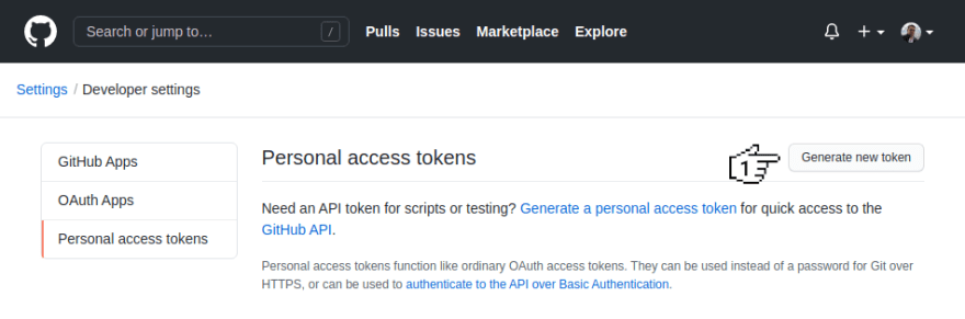 GitHub - Personal access tokens