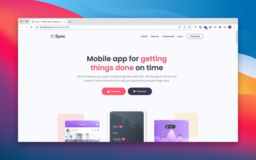 Sync Html Template