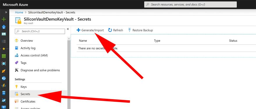screenshot create key vault 4