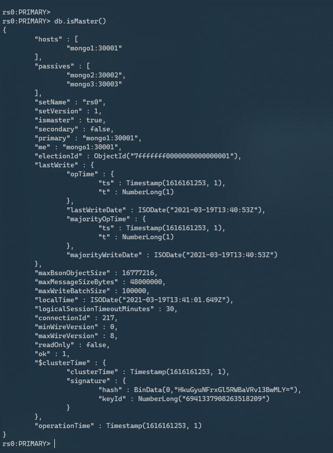isMaster() output