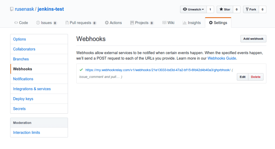 Automated Jenkins builds on GitHub pull request - DEV Community