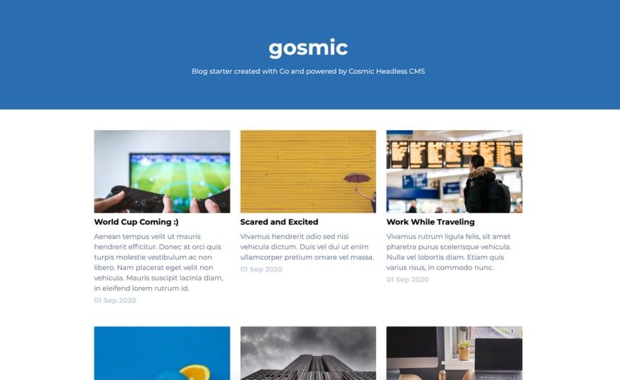 Cosmic Go Blog