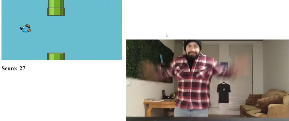 Cover image for How I made Flappy Pose, Flappy Bird but where you flap with your arms