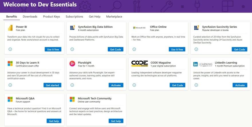 Microsoft account screen