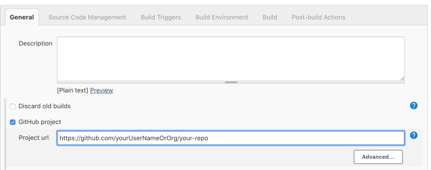Adding the GitHub project url