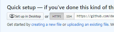 Create a new file on github