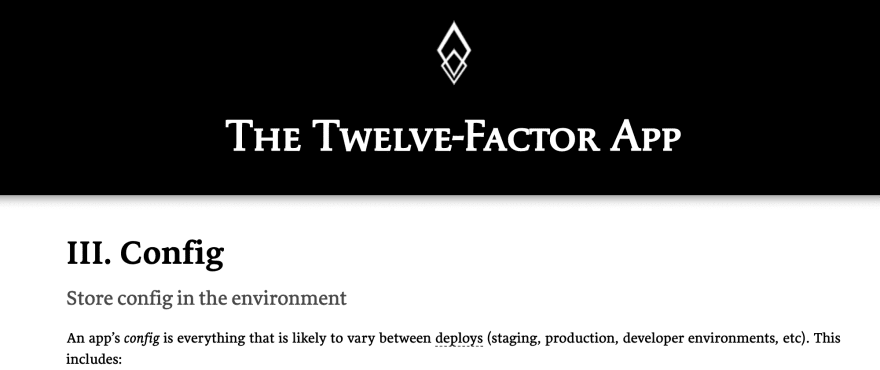 12 factor configuration section