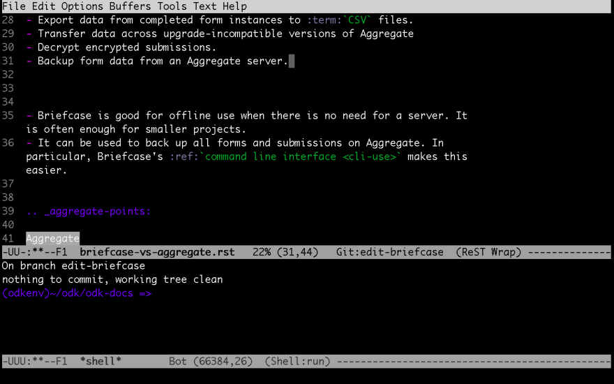 Emacs in Terminal