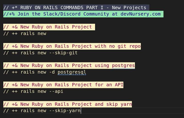 Rails Commands Part I