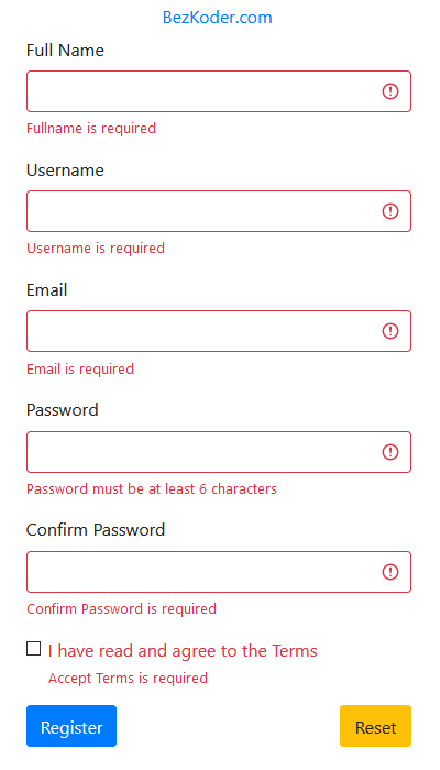 react-form-validation-hooks-example