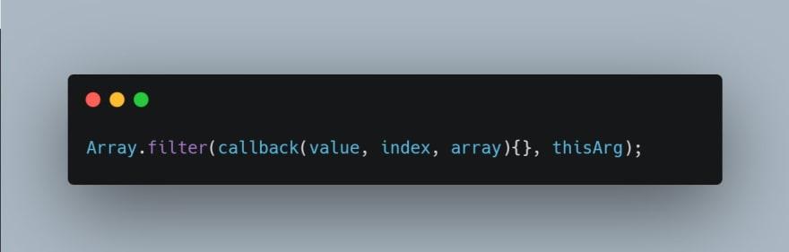 filter method syntax