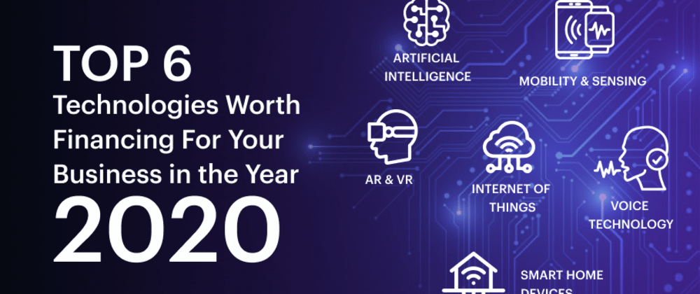Cover image for Top 6 Technologies Worth Financing For Your Business in the Year 2020