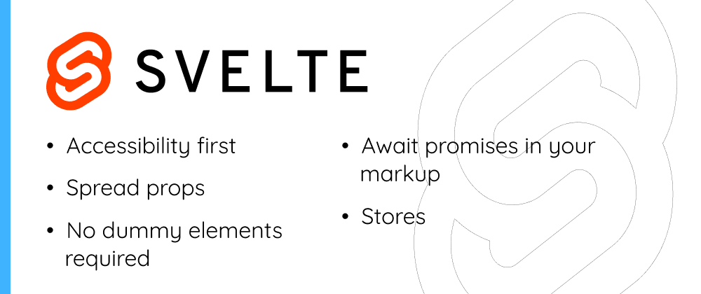 Cover image for 5 things I love about Svelte