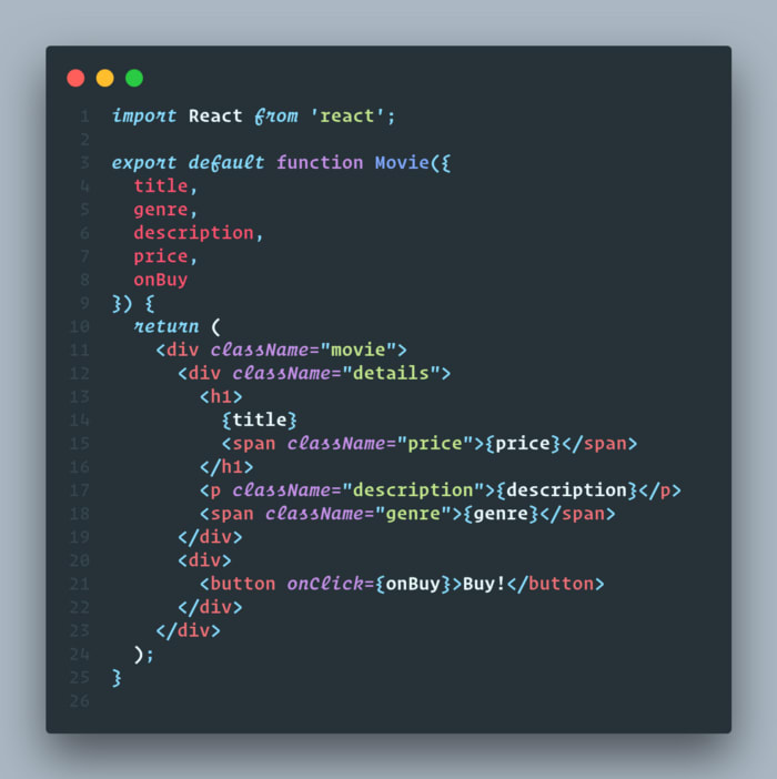 CodeSnap extension for vscode.