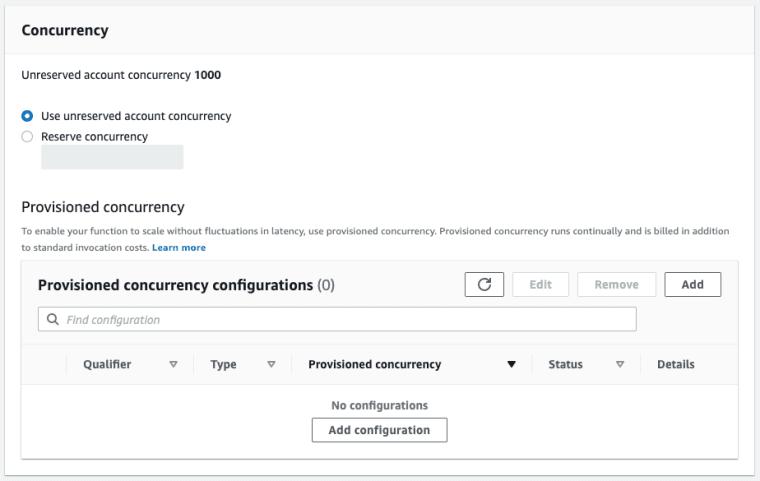 AWS Lambda Concurrency