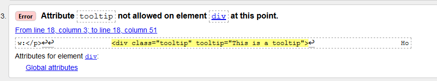 W3 validation error for tooltip attribute