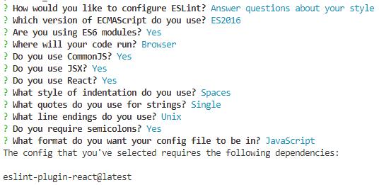 ESLint Setup Questions