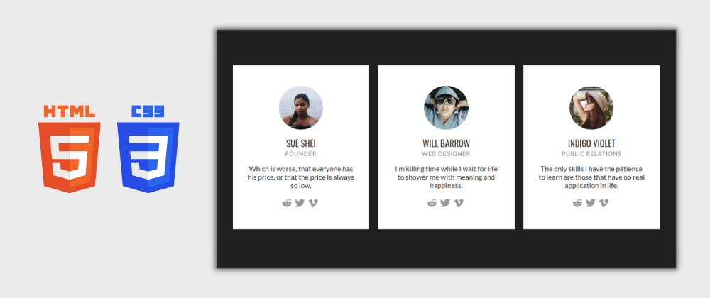 Cover image for Day 30/30 : Responsive Profile Cards Using HTML and CSS
